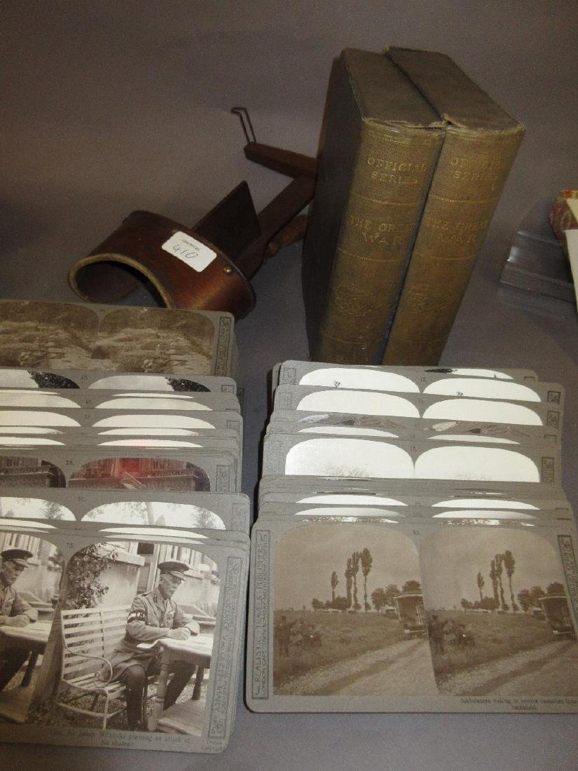 Boxed set of World War I stereographic cards together