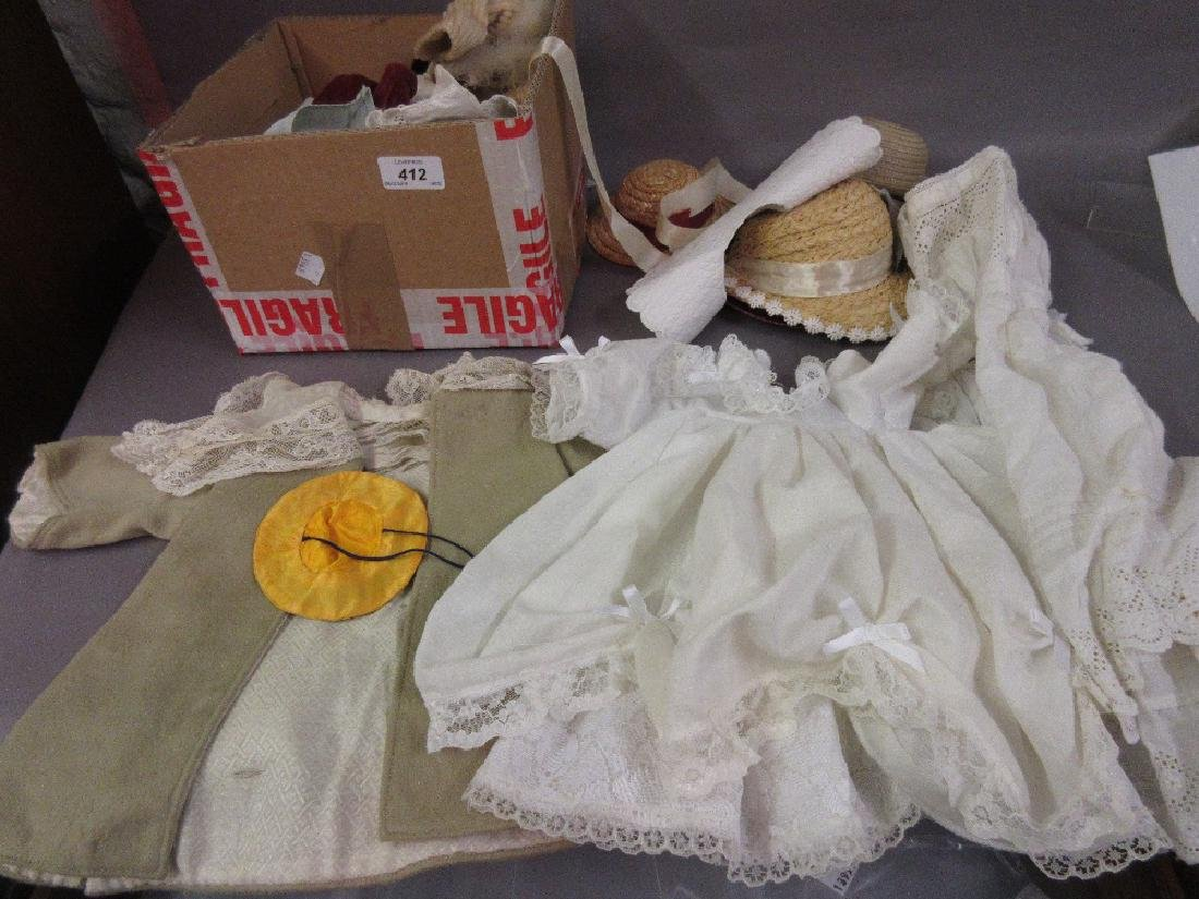 Box containing a quantity of Victorian and later dolls