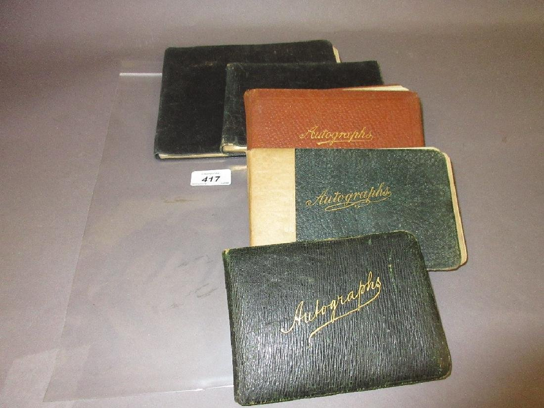 Collection of five various autograph albums