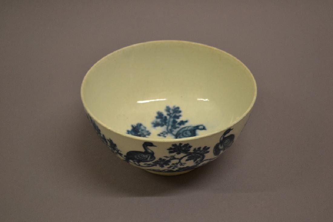 18th Century First Period Worcester blue and white bowl