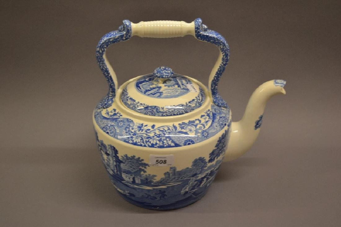 Large Copeland Spode Italian pattern pottery teapot