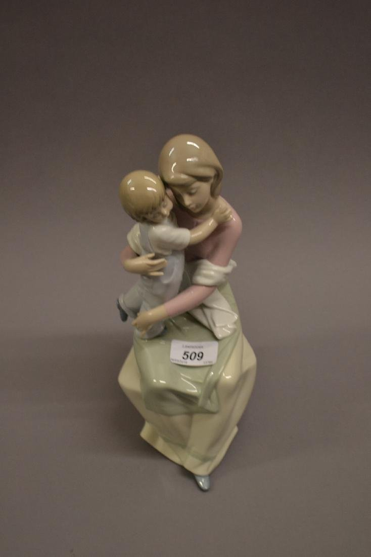 Lladro porcelain figure, mother and child