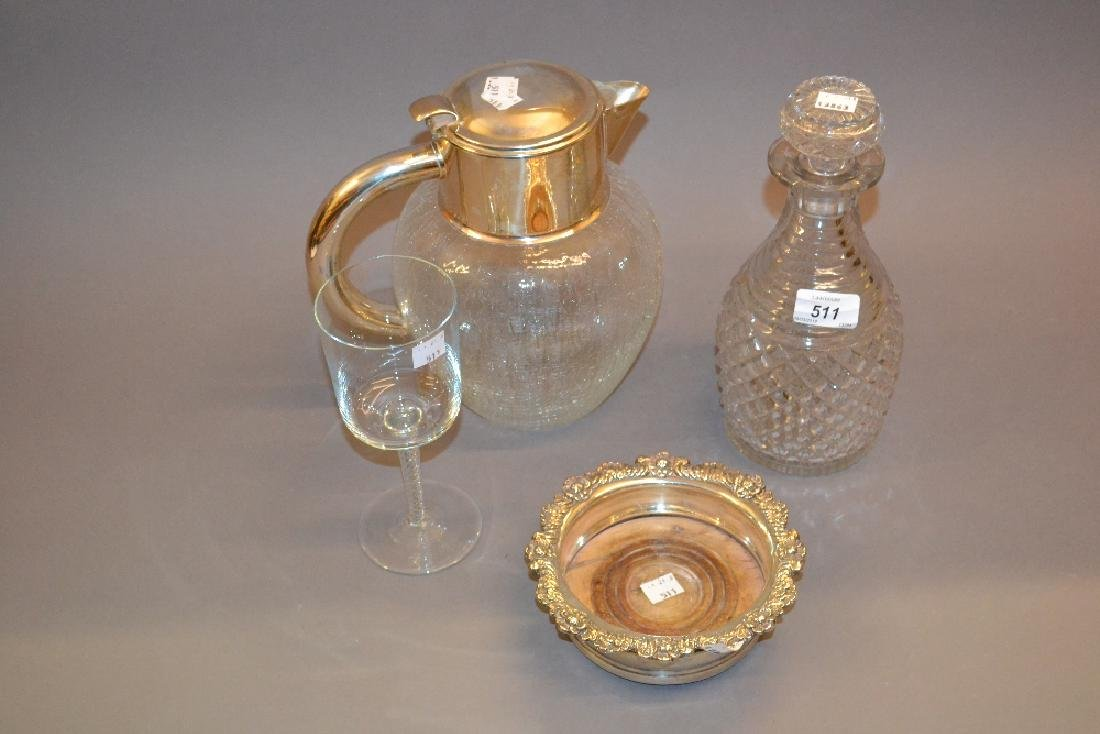 Georgian cut glass decanter with stopper together with