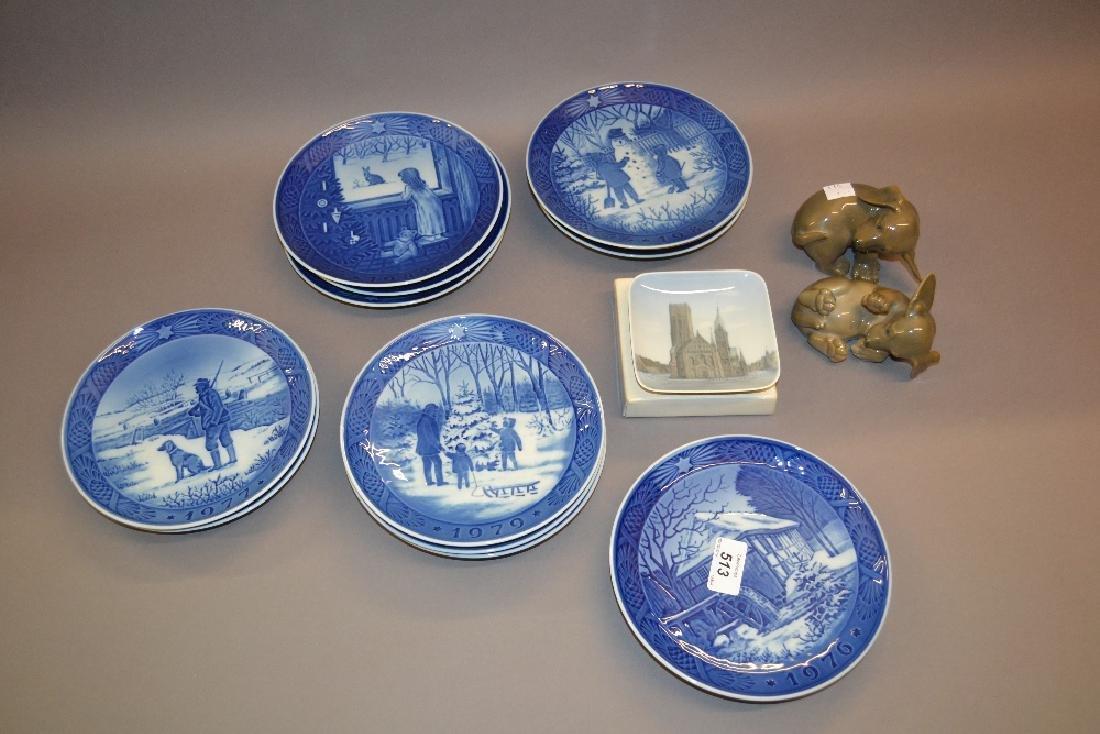 Group of thirteen Royal Copenhagen Christmas plates