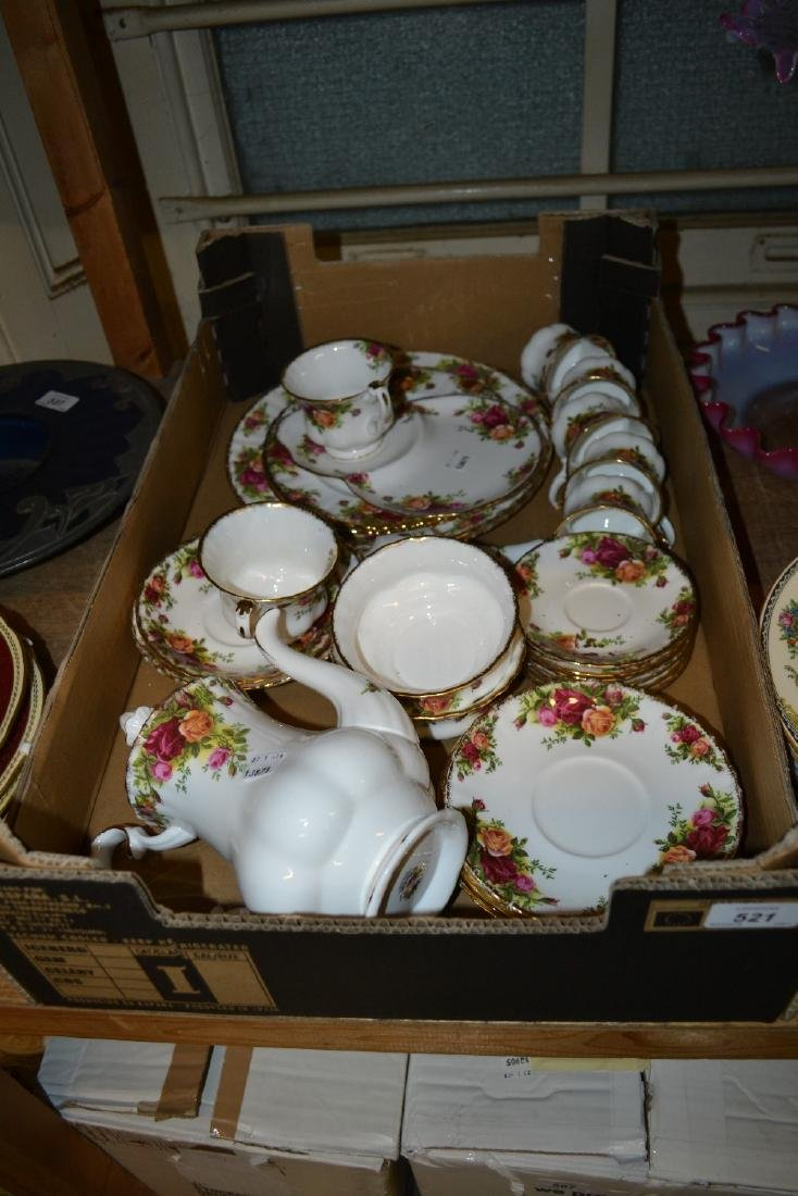Quantity of Royal Albert Old Country Rose pattern tea