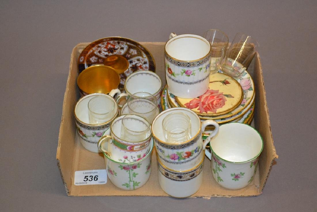 Royal Worcester Imari pattern coffee cup and saucer and