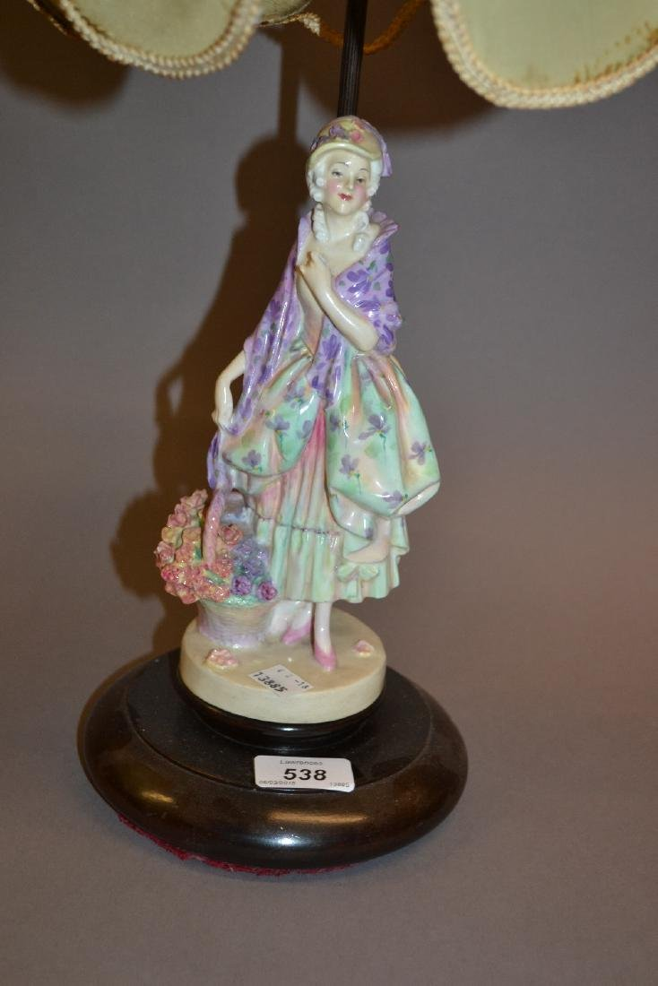 Royal Doulton figural table lamp in the form of a girl