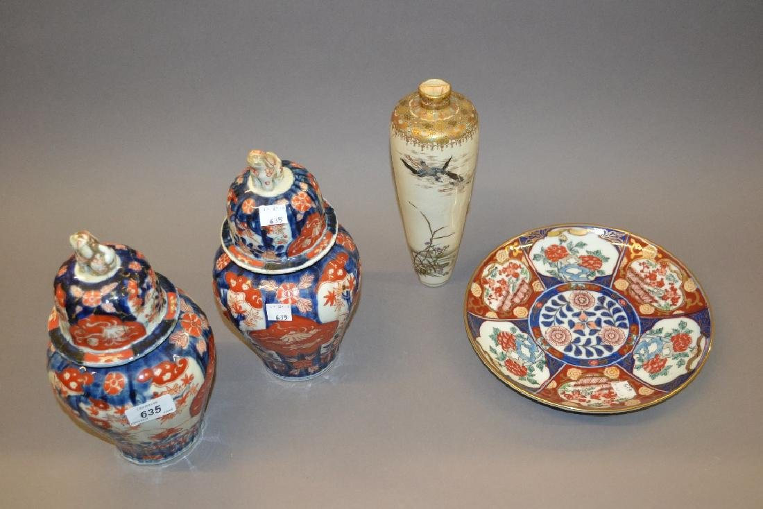 Two 19th Century Imari iron red and blue decorated