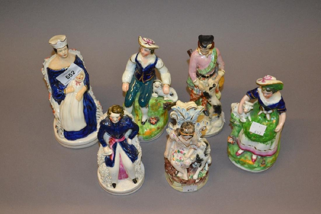Two Staffordshire pottery figures, Victorian and