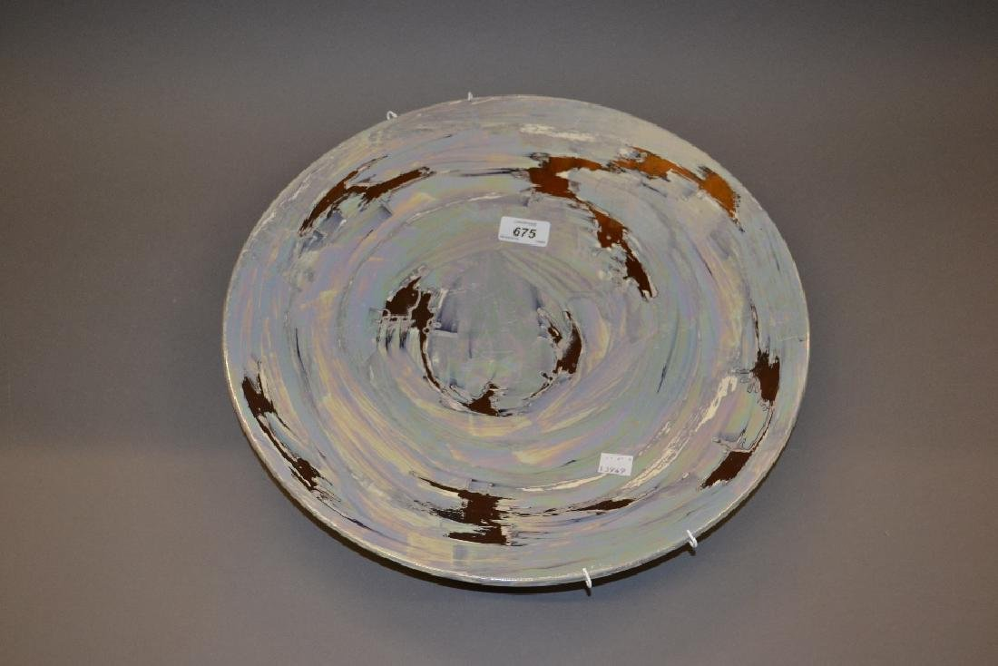 Poole pottery lustre charger, 16ins diameter