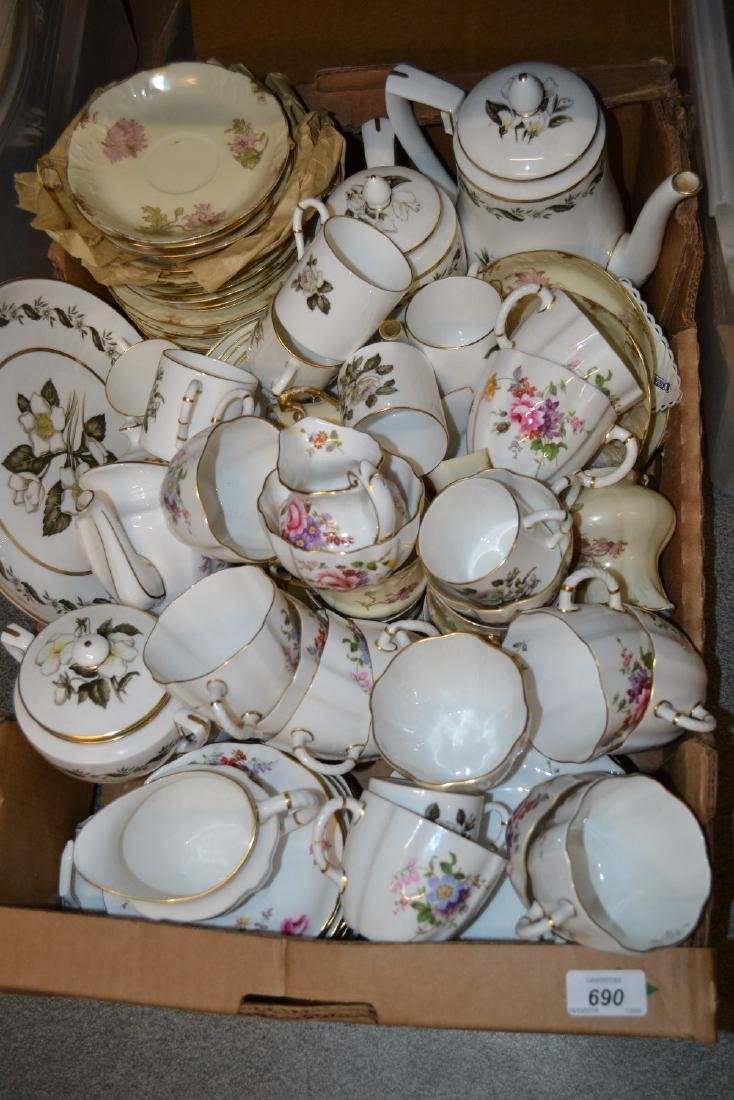 Royal Crown Derby Posies pattern tea service, together