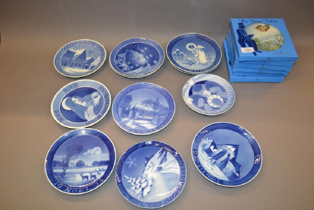 Group of eleven Royal Copenhagen Christmas plates,