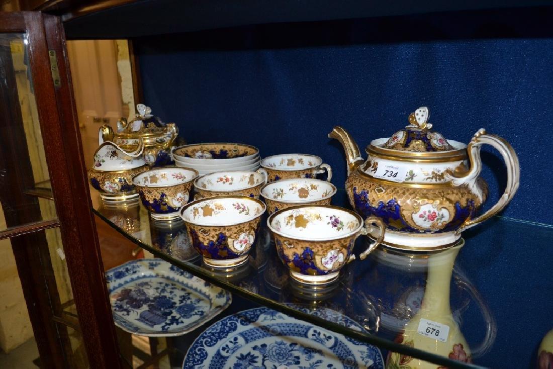 Mid 19th Century English porcelain part tea service