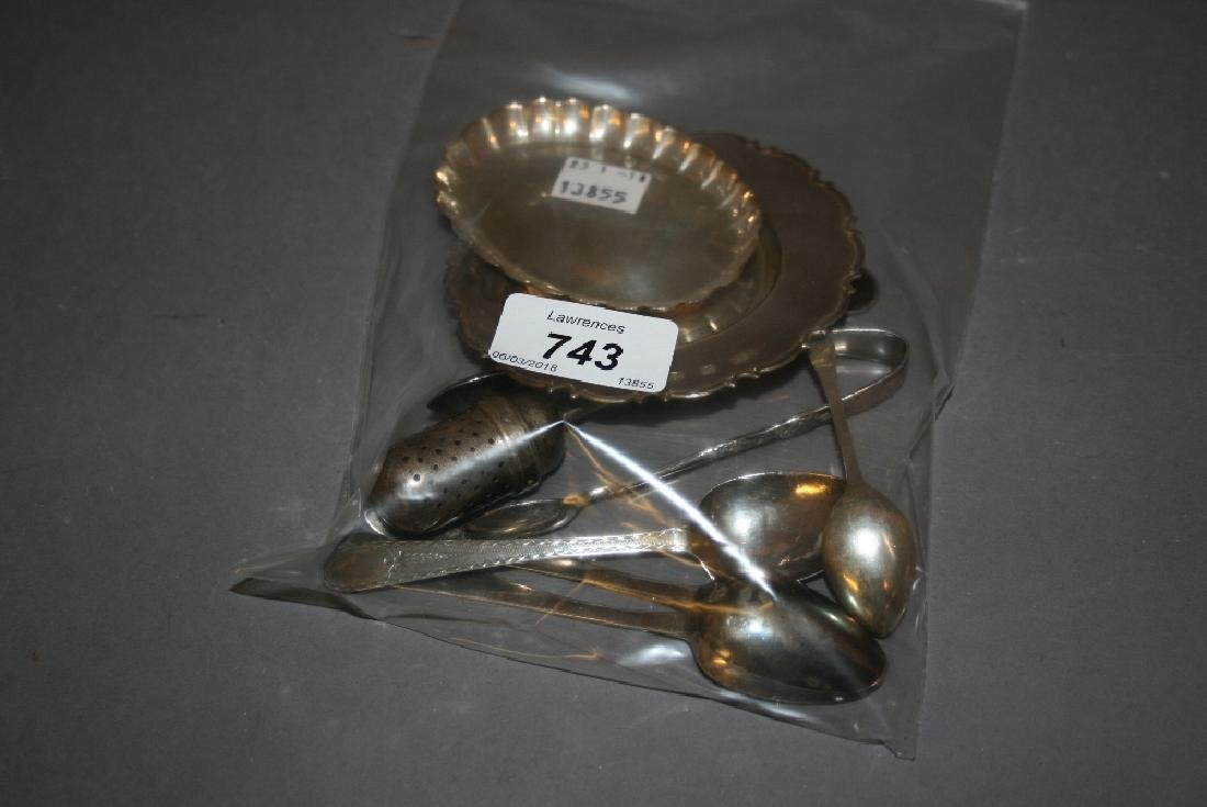 Three George III silver teaspoons by Hester Bateman