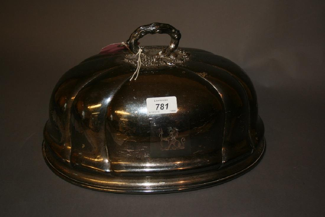Large silver plated meat cover