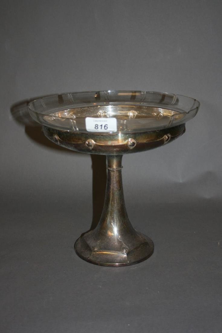 W.M.F. silver plated fruit stand with original glass