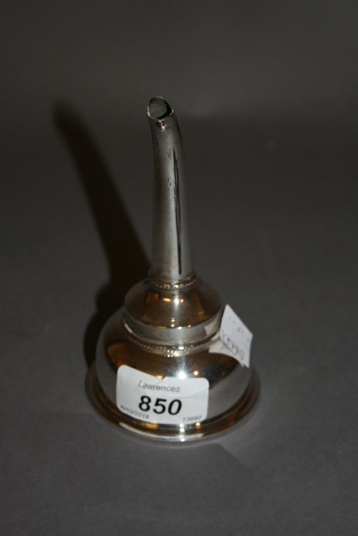 20th Century Birmingham silver wine funnel
