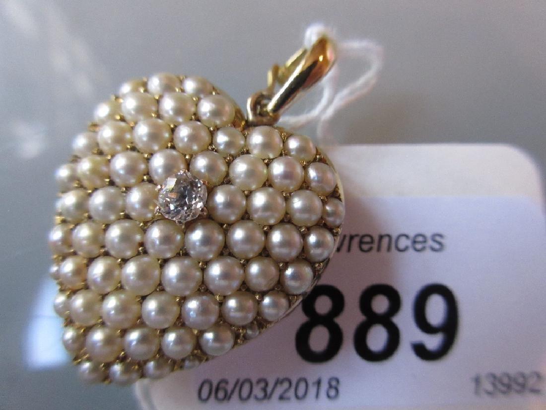 Late 19th or early 20th Century yellow metal diamond