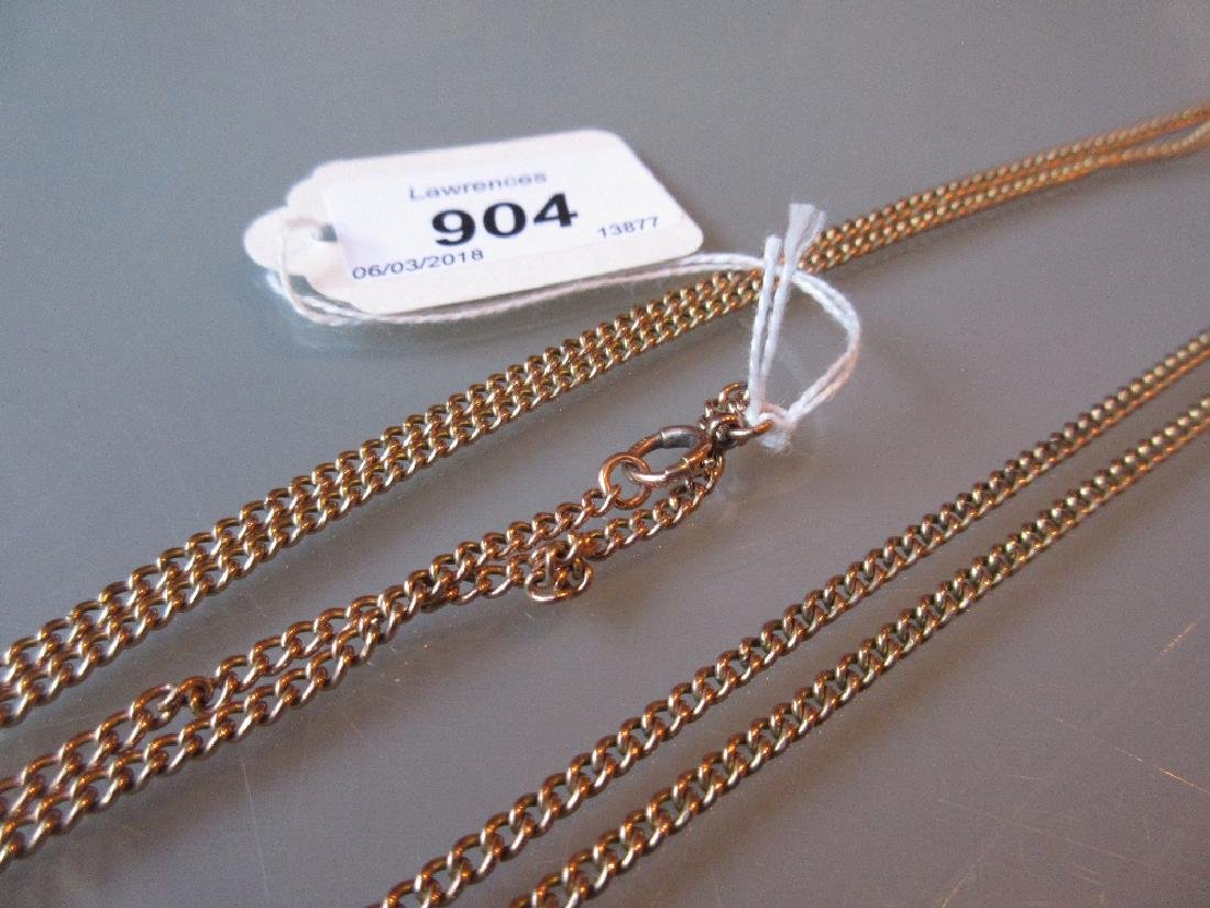 9ct Gold curb link guard chain