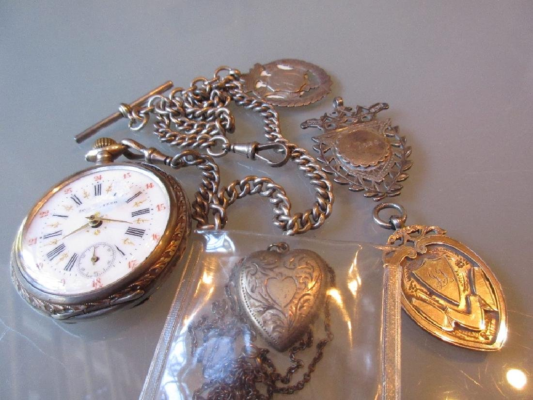 Continental 800 mark open face crown wind pocket watch,