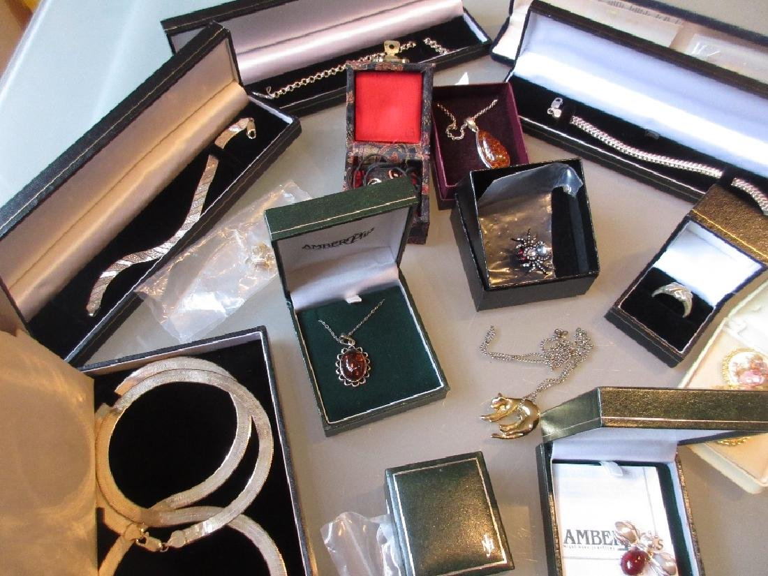 Quantity of various boxed silver costume jewellery