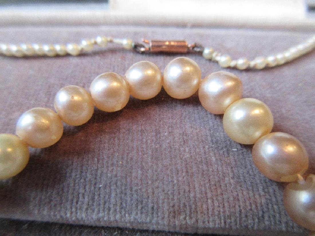 Boxed seed and cultured pearl necklace with a 9ct gold - 2