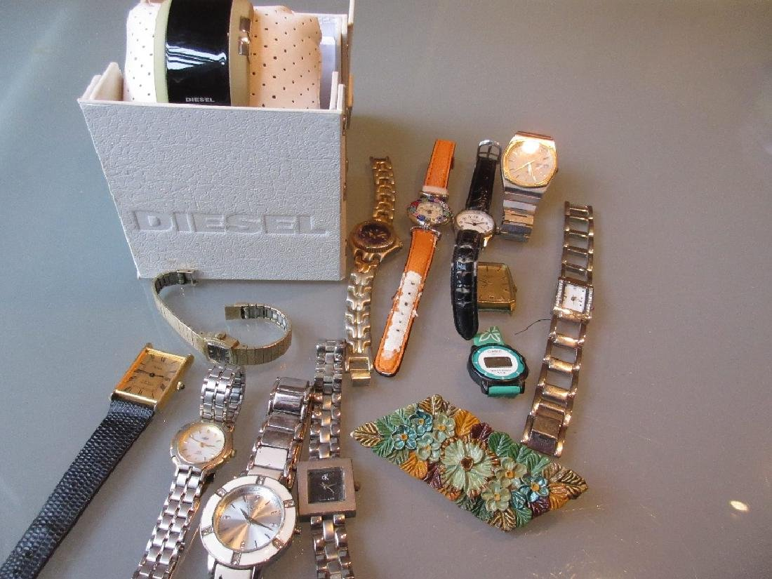 Boxed Diesel wristwatch with booklet together with a