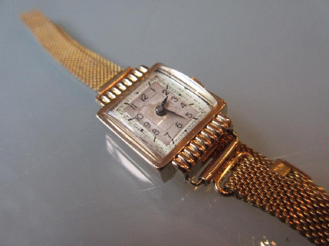 Ladies 18ct gold cased wristwatch on a gold plated