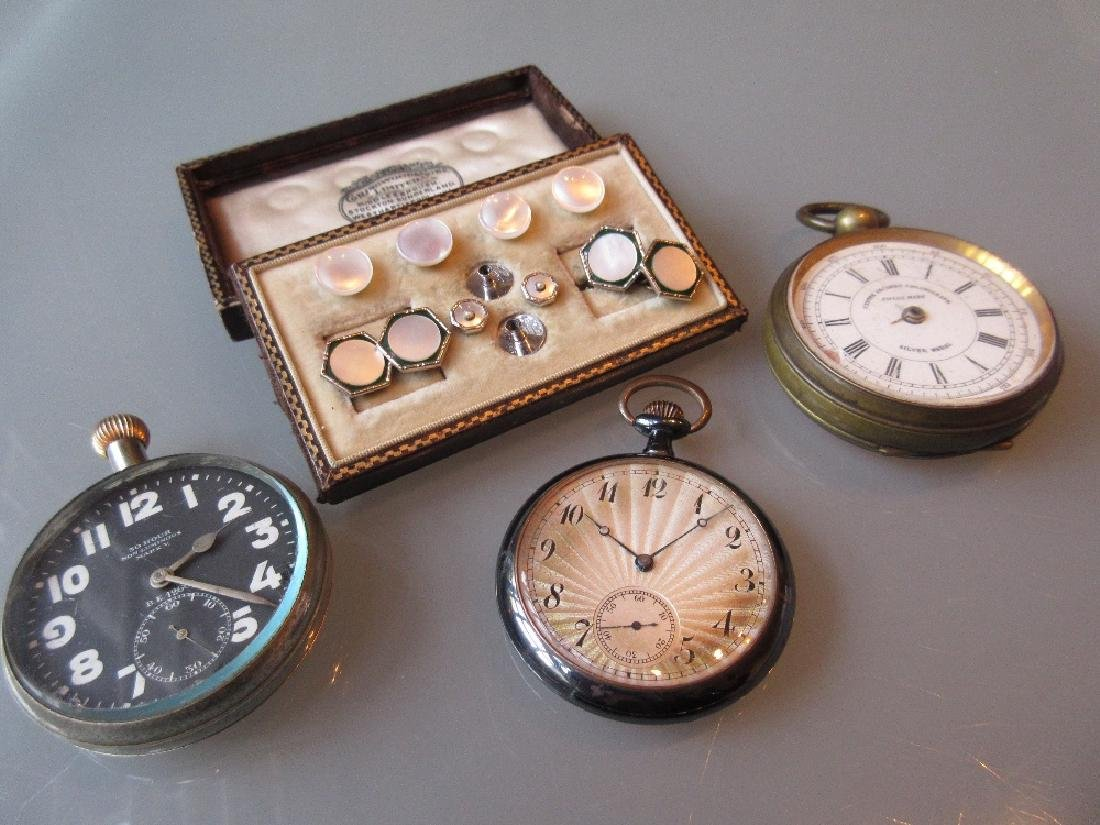 Doxa military issue pocket watch together with a brass