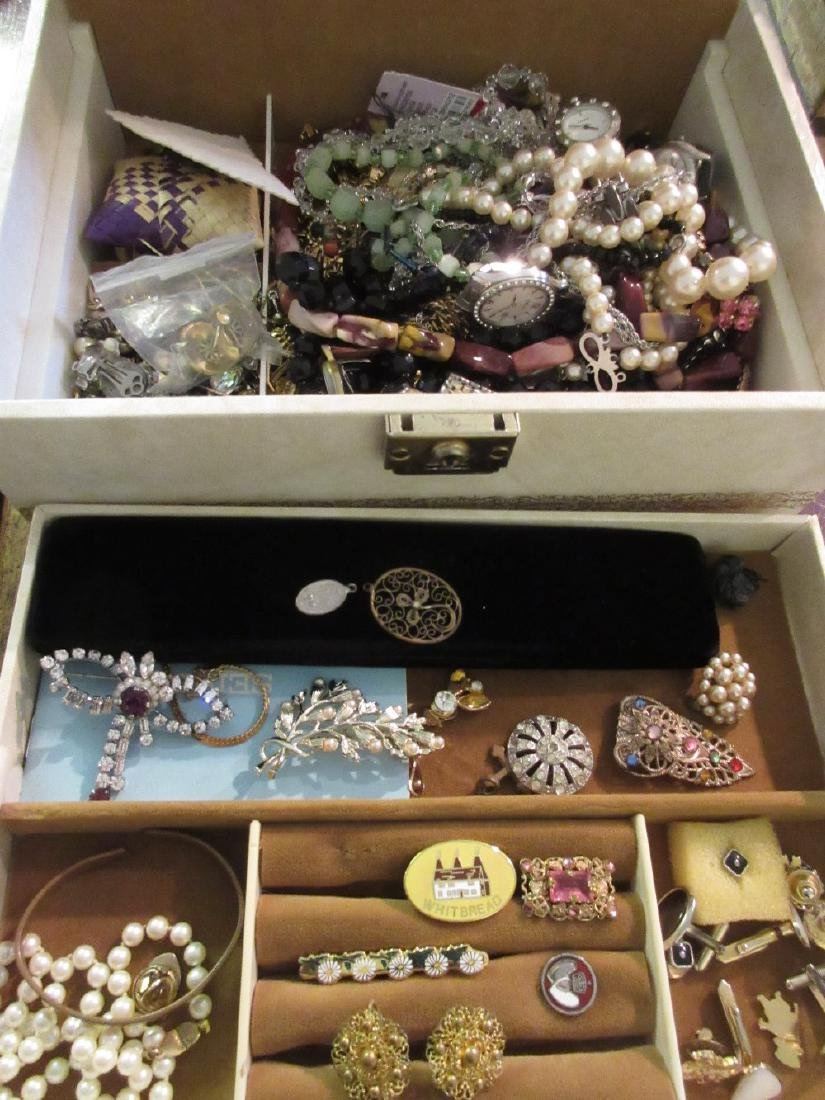 Similar jewellery box of costume jewellery