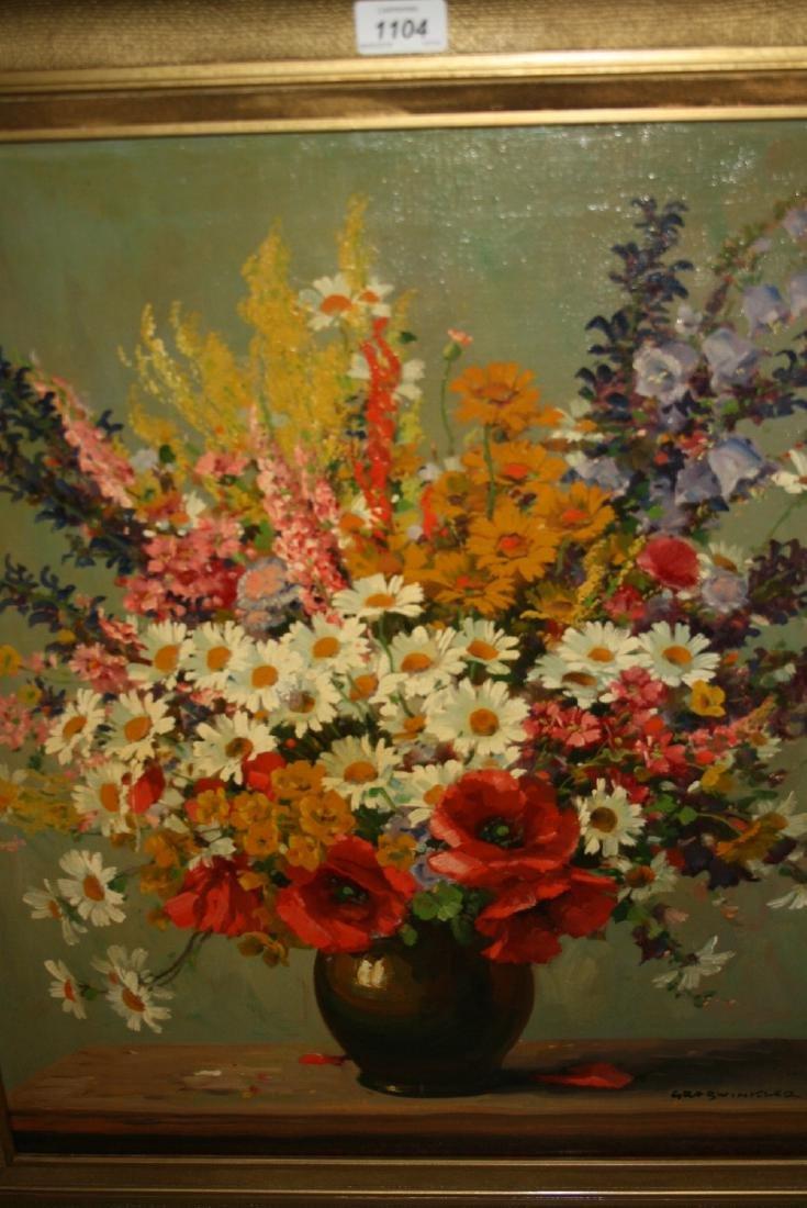 Mid 20th Century oil on canvas, still life summer