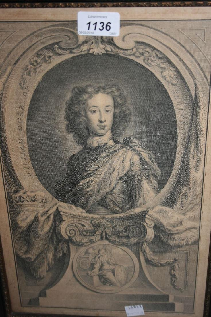 Three Hogarth framed 18th Century engravings, William,