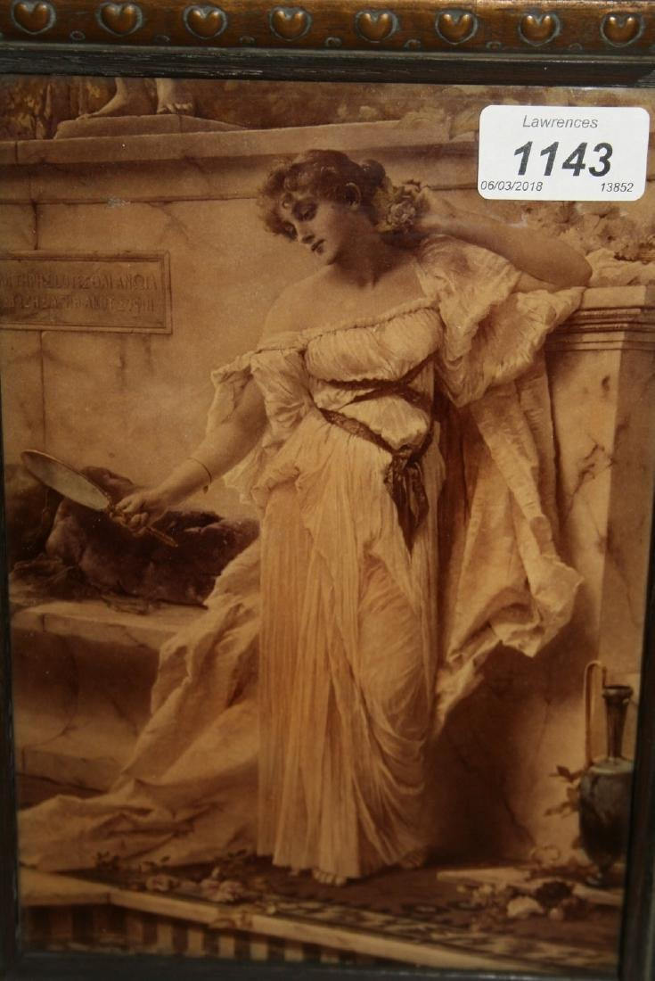 Cristoleum picture of a classical maiden gazing into a