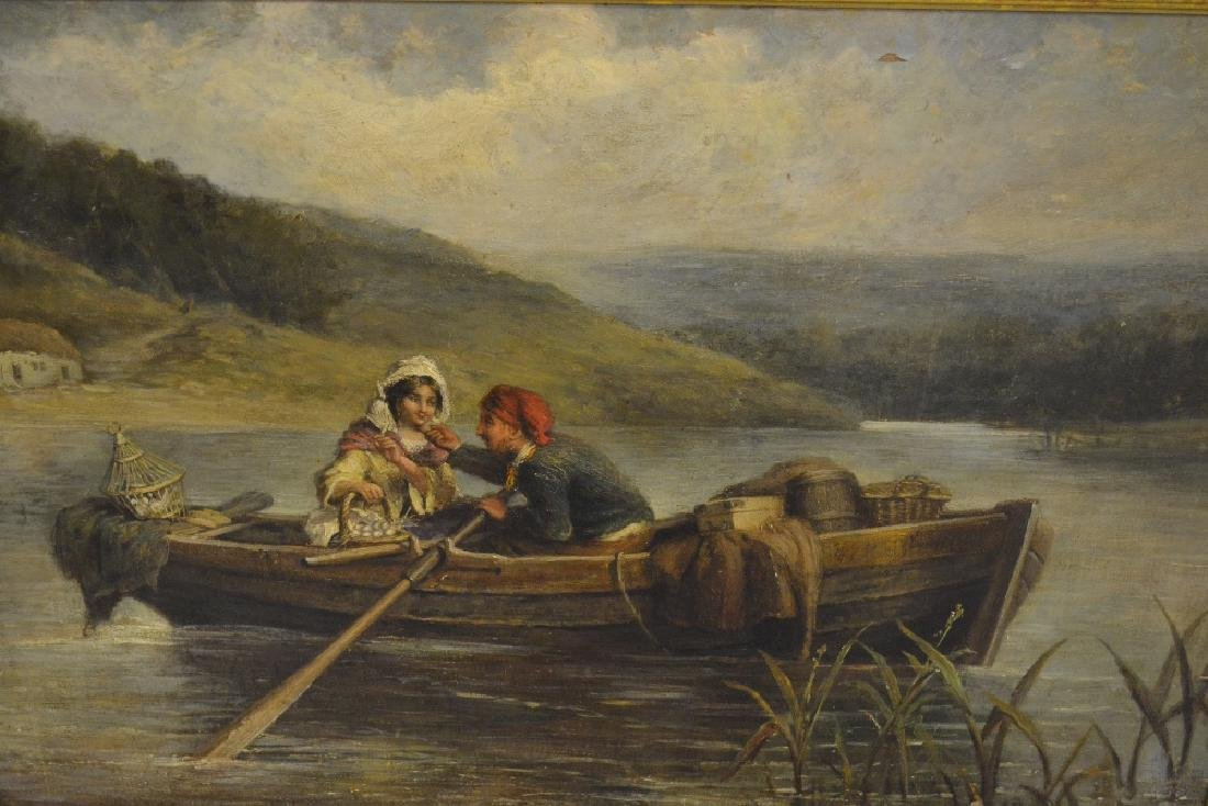 James Cole, oil on canvas, laid down on board, figures