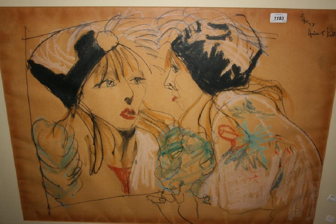 Hubert Pattinson, study of two ladies in conversation,