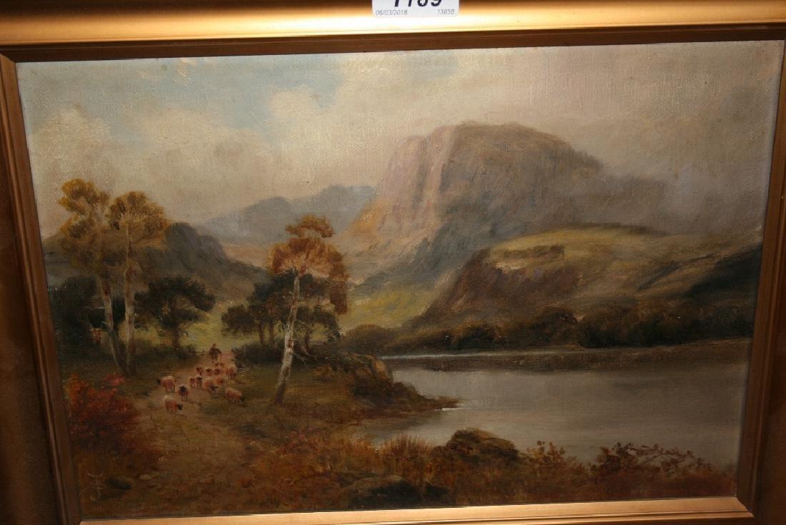 Sidney Yates Johnson, oil on canvas, shepherd with