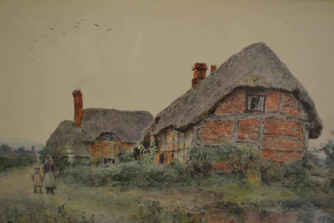 Henry John Yeend King, watercolour, children before