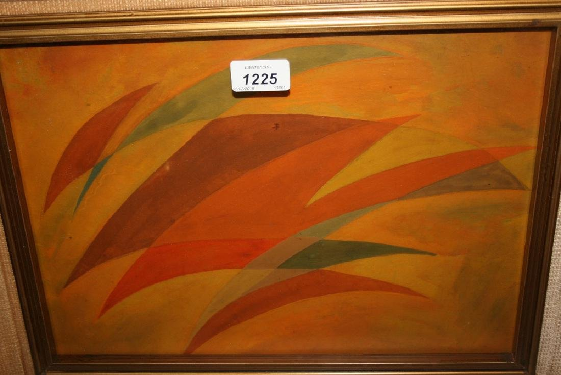 Gino Marotta, oil on board, abstract study in a gilt