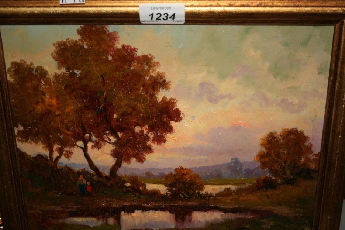 Gino Pagliariini, pair of oils on board, landscapes