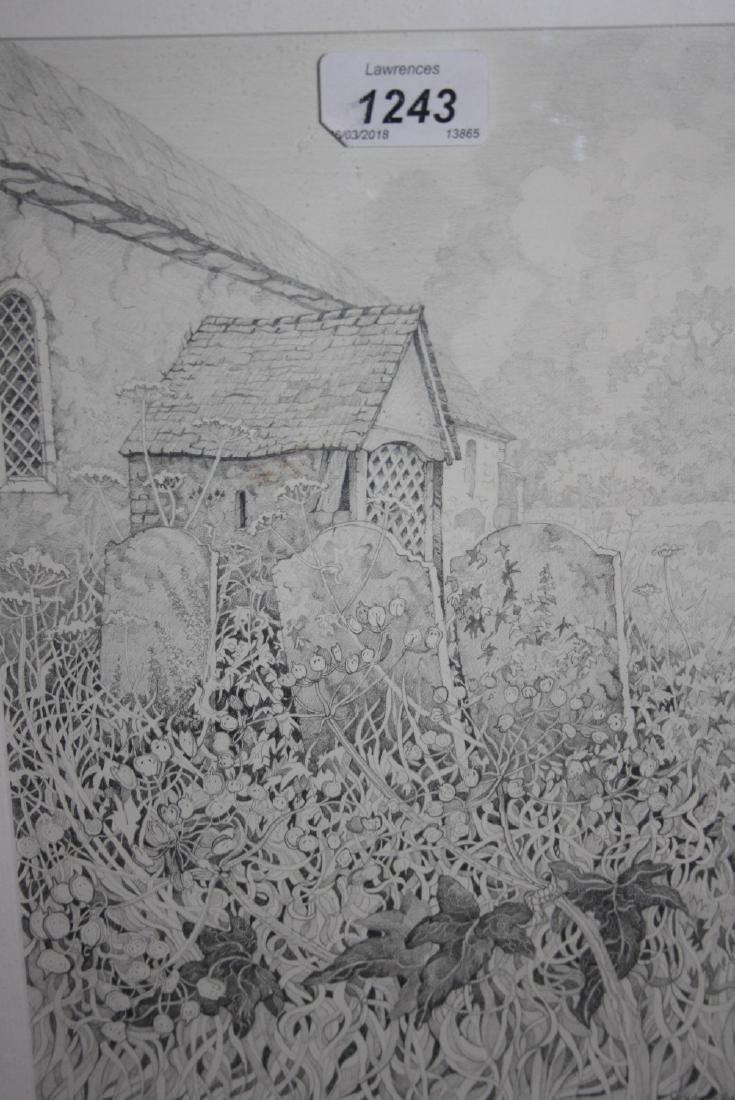 Wendy Rapley, pencil sketch, corners of Sussex,