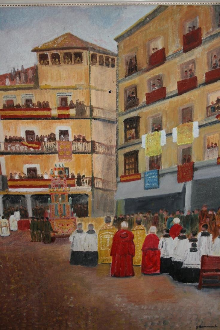 J. Bonnaud, oil on canvas, ' Corpus Christi Day