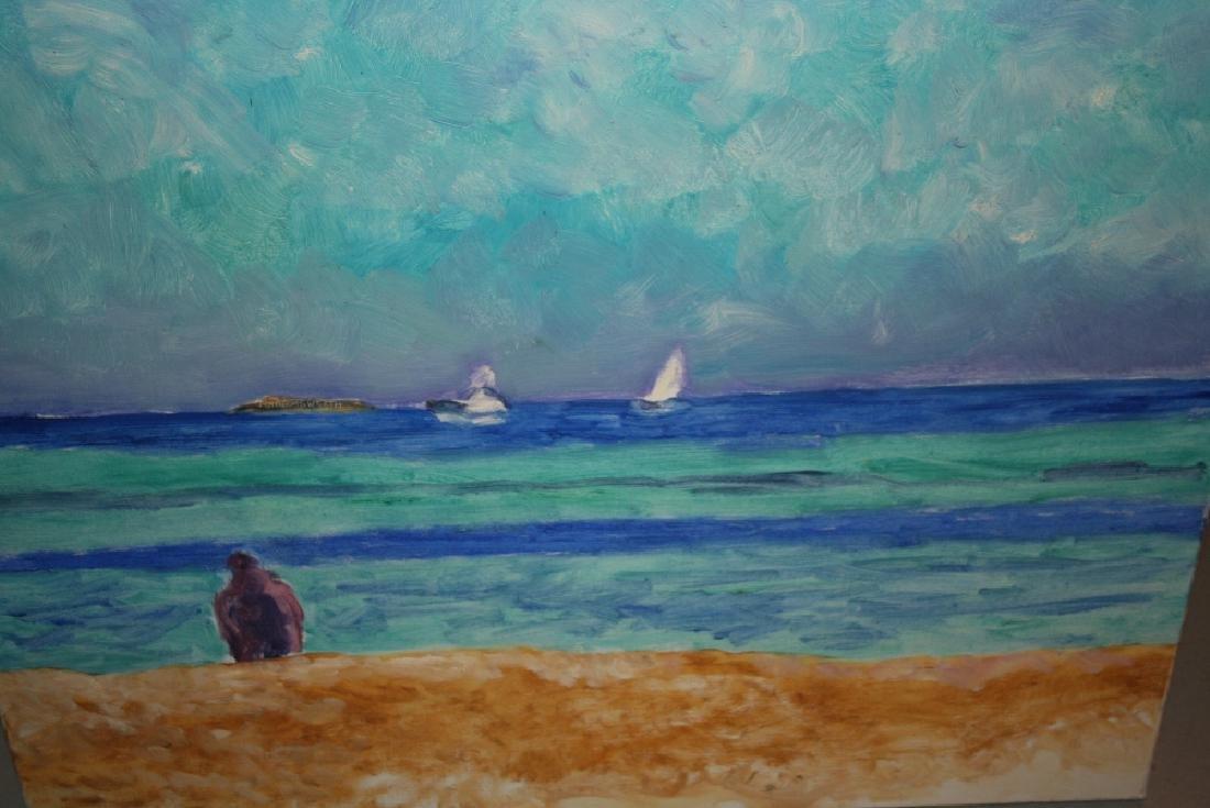 Margaret Harmsworth, 20th Century oil on canvas, beach