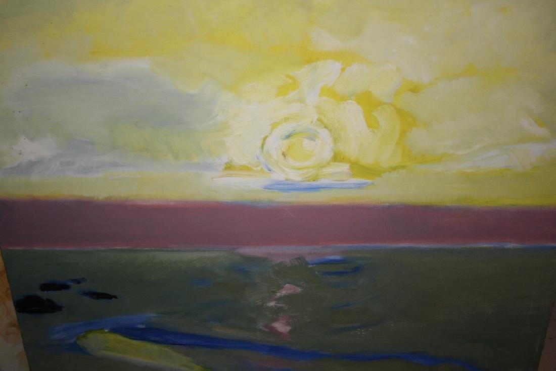 Margaret Harmsworth, 20th Century oil on canvas, ' Mer