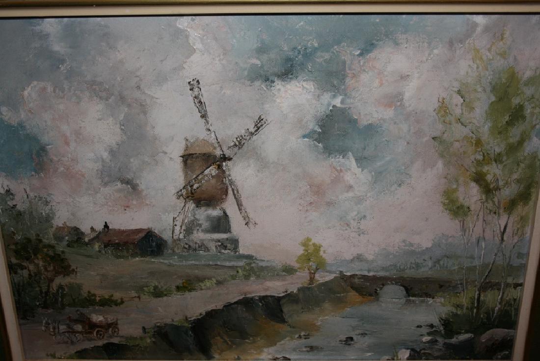 D. Piper, pair of 20th Century Dutch school, oil on