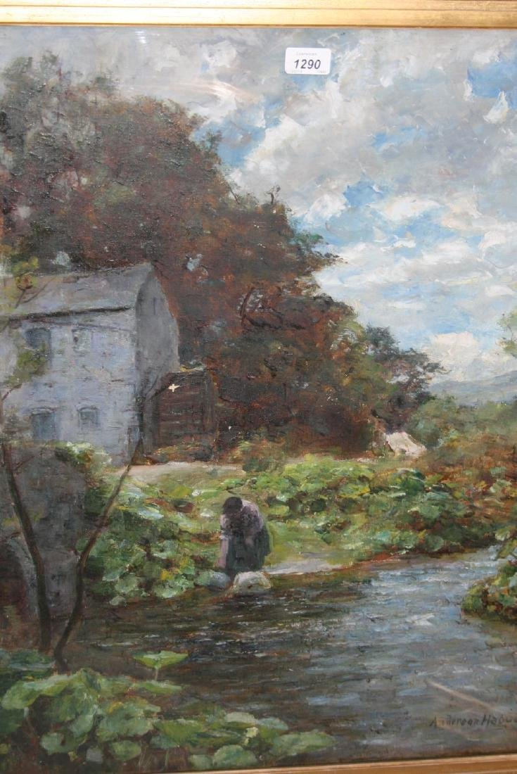 Joshua Anderson Hague, oil on canvas, view of a
