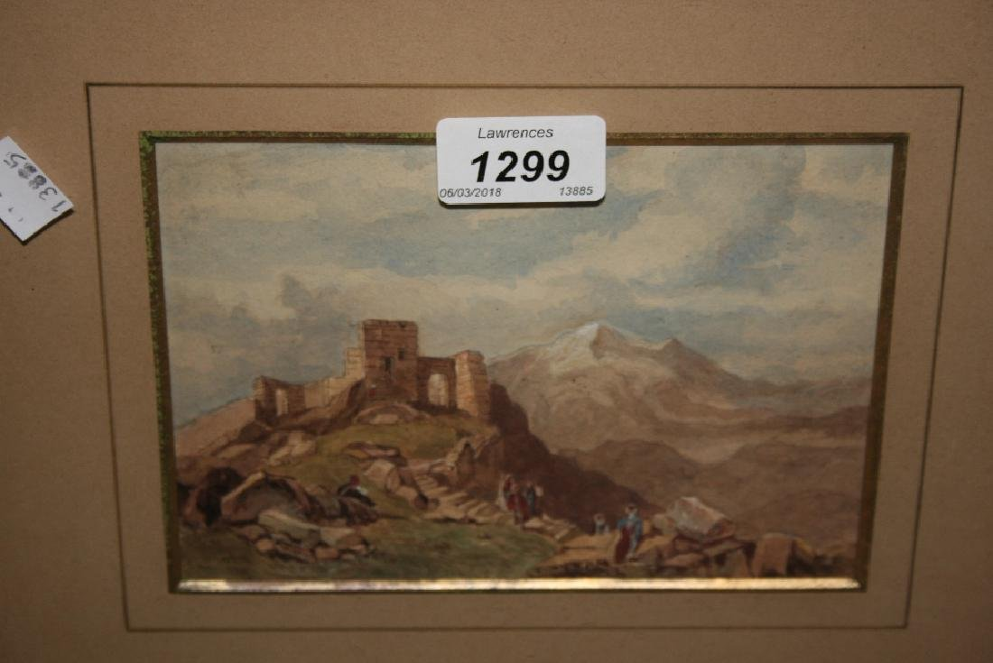 Attributed to J.D. Harding, small framed watercolour, '