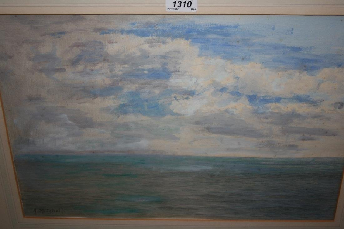 Alfred Mitchell, watercolour, seascape near Lizard