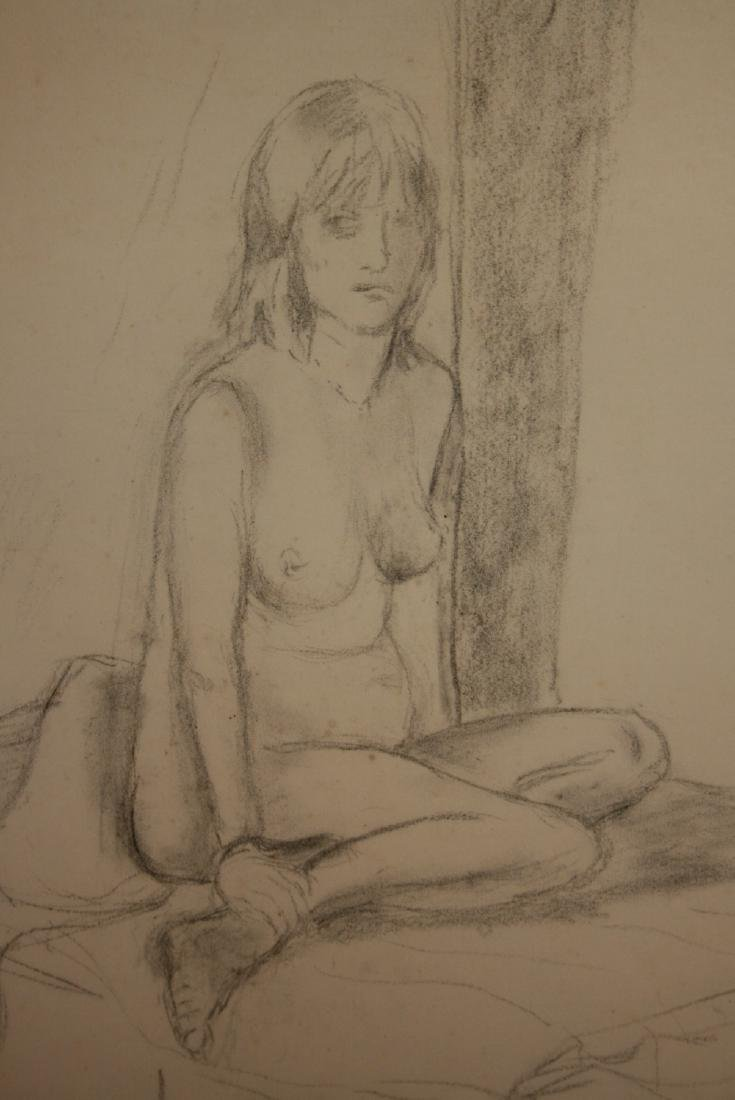 Folio containing various large pencil and crayon nude