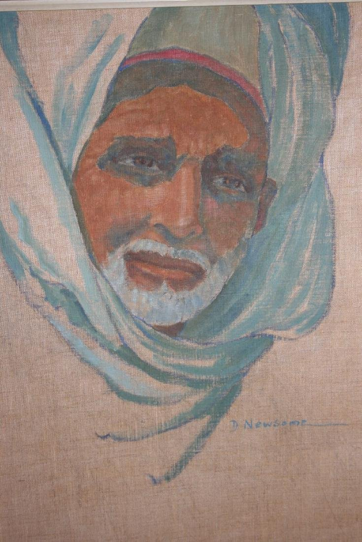 D. Newsome, signed oil on linen, portrait of an Eastern