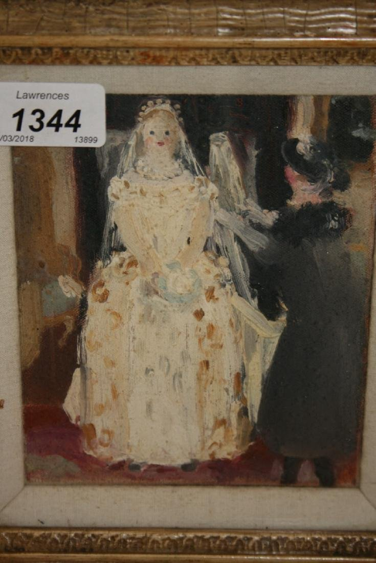 David Carr, oil on canvas, ' Wedding Day ', signed and